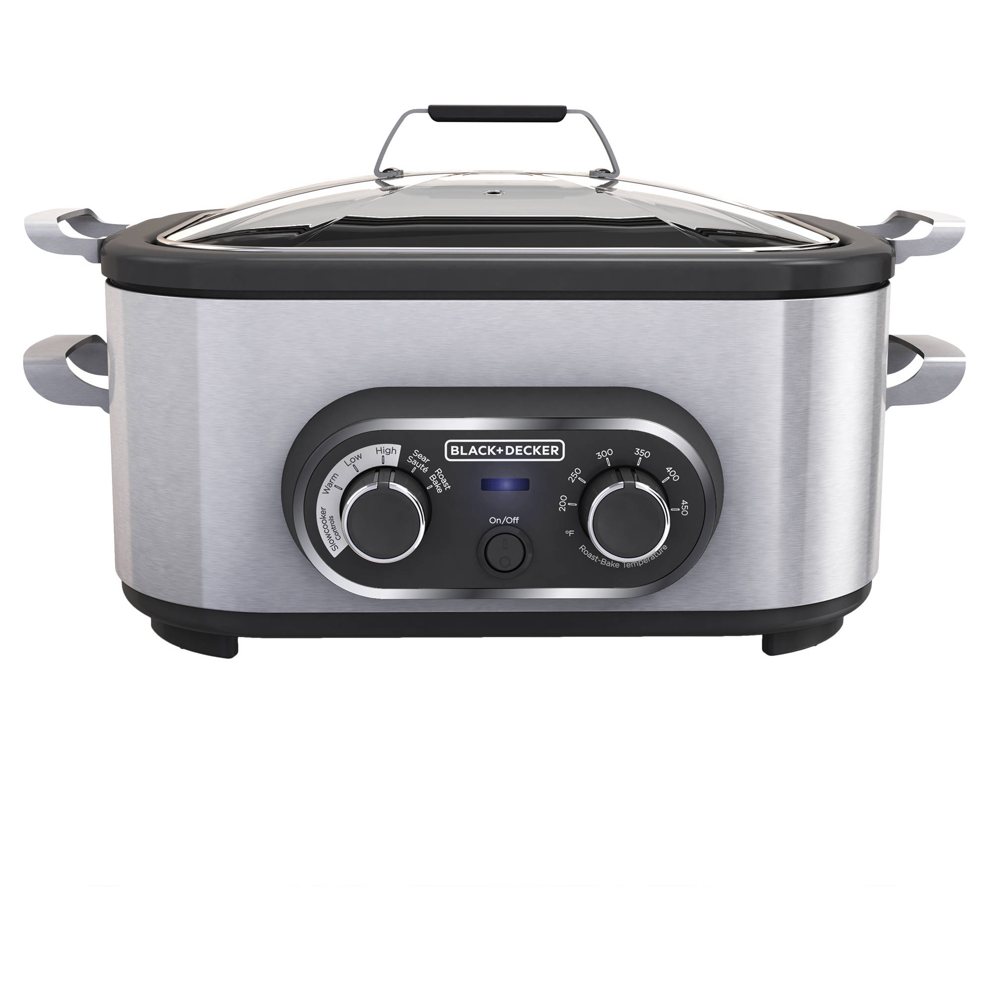 BLACK+DECKER 6-Quart Multi Function Slow Cooker, MC1100S