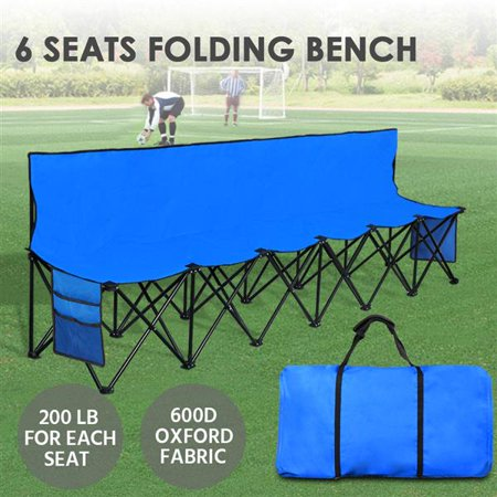 Groovy Yaheetech Lightweight Portable Folding Bench Folding Chair Camping Chair Outdoor Team Sport Bench 6 Seater Blue Bleacher Chair Sideline Seats With Dailytribune Chair Design For Home Dailytribuneorg