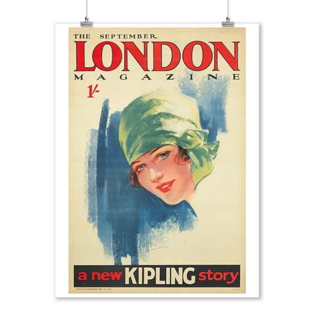 London Magazine Vintage Poster (artist: Purvis) UK c. 1927 (9x12 Art Print, Wall Decor Travel (London Magazine)