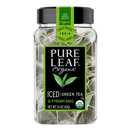 Pure Leaf Iced Tea Bags Organic Green 16 Ct