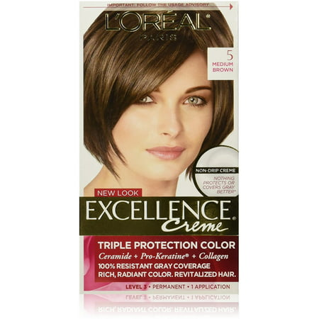 L'Oreal Paris Excellence Creme Triple Protection Hair Color, 5 Natural Medium Brown 1