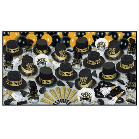 Club Pack Of 50 Grand Deluxe Gold   Happy New Years   Legacy Party Favor Hat Kits
