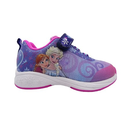 Disney Frozen Toddler Girls' Athletic Sneaker (Girls Purple Tennis Shoes)
