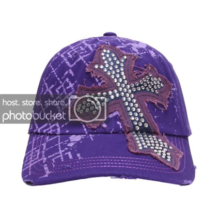 topheadwear beaded cross distressed adjustable baseball -