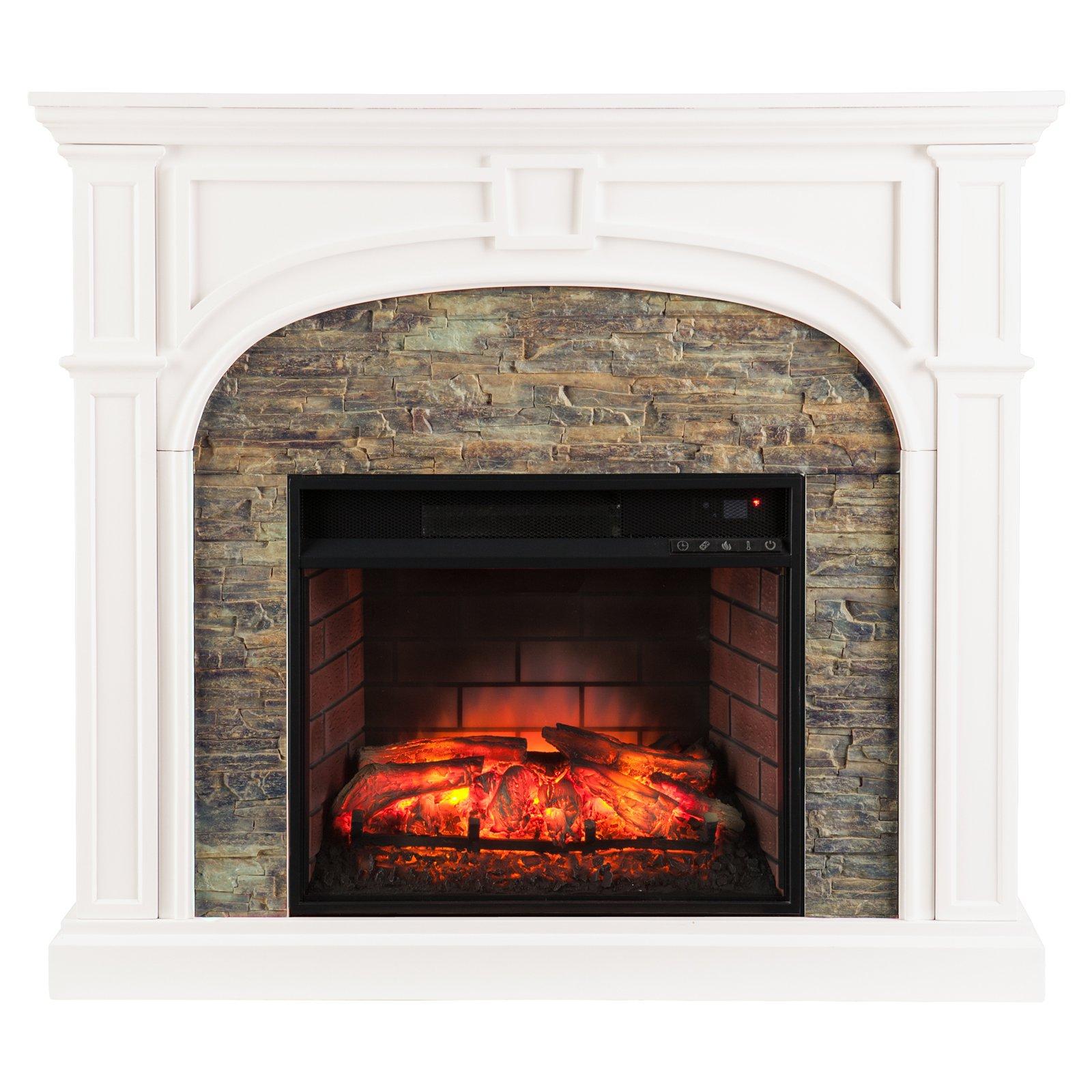 Southern Enterprises Tanaya Infrared Electric Media Fireplace