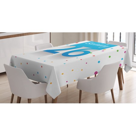 26th Birthday Decorations Tablecloth, New Age Anniversary Party Polka Dots Colorful Spots Artsy Design, Rectangular Table Cover for Dining Room Kitchen, 52 X 70 Inches, Multicolor, by Ambesonne](Polka Dot Tablecloth Party City)