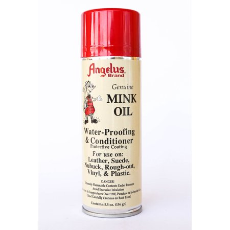 Angelus Mink Oil Spray Leather Conditioner Waterproof Repellent 5.5 oz.