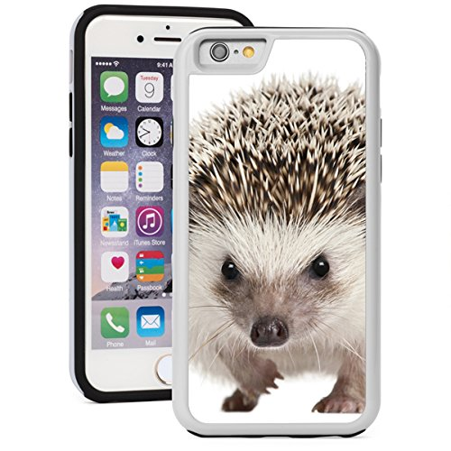 For Apple iPhone Shockproof Impact Hard Soft Case Cover Hedgehog (White for iPhone 7 Plus)