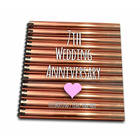 3drose 7th wedding anniversary gift copper celebrating 7 years