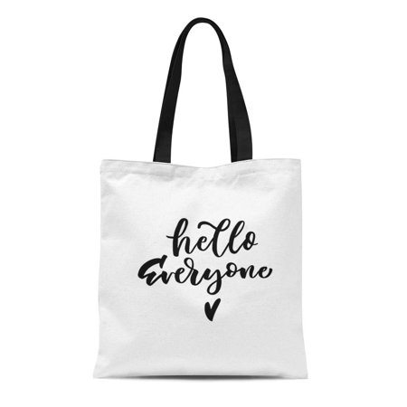 KDAGR Canvas Tote Bag Baby Hello Everyone to Babies Nursery Overlay Boy Durable Reusable Shopping Shoulder Grocery Bag