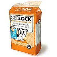GoGo 13004 15 Count Gridlock Adhesive Back Puppy Housetraining Pads, 24 X 24 In.
