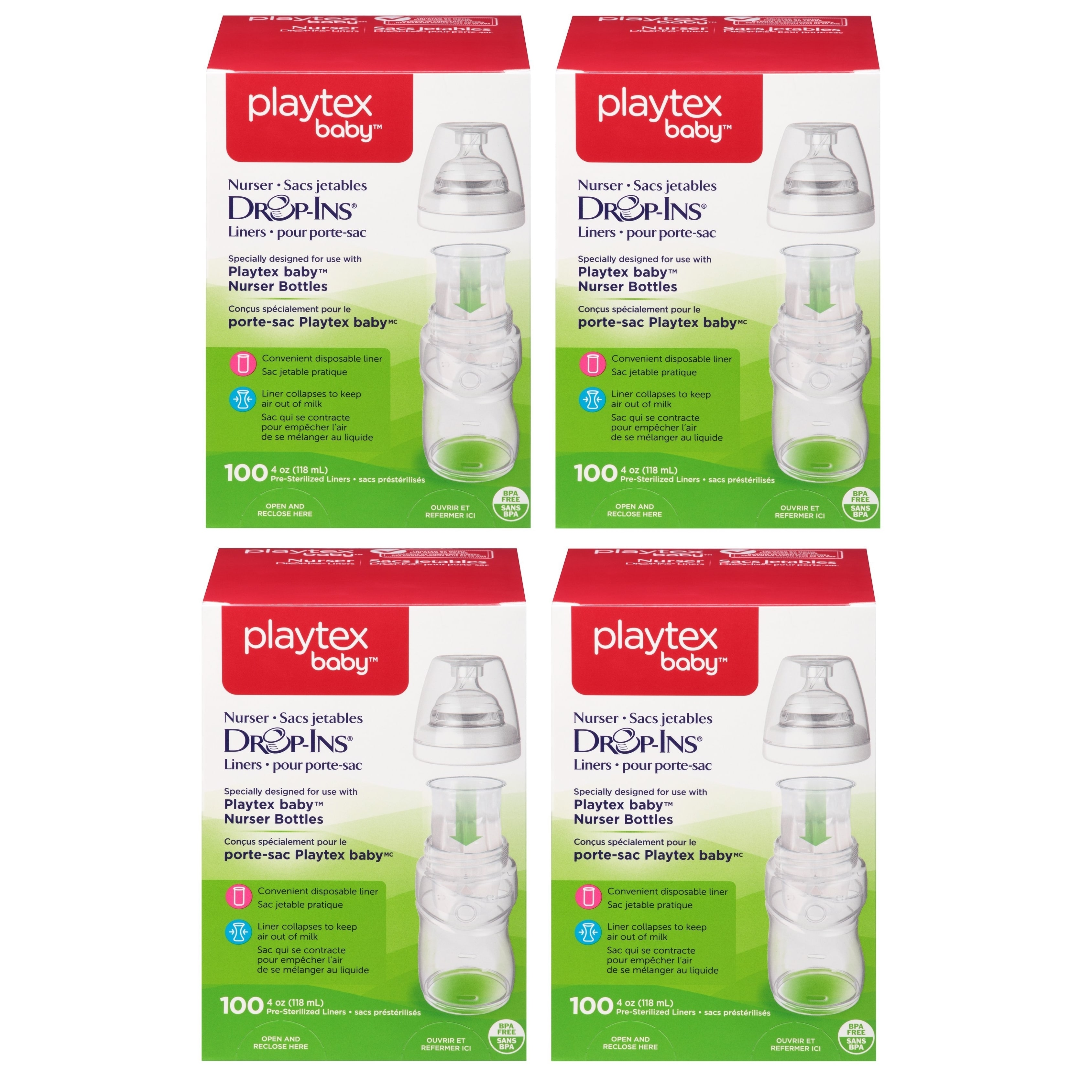 Playtex  4-ounce Drop-Ins 400 Count Liners