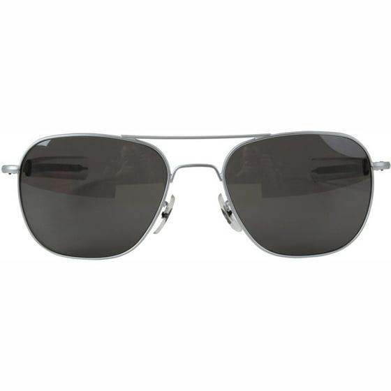 6750ef19d8 AO Original Pilot Sunglasses with 57mm Bayonet Temples and True Color Gray  Glass Lenses - Walmart.com