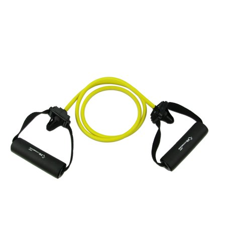 Furinno RFitness RF1505-YL Professional Stretch Latex Exercise TUBING with Sponge Handle and Door Anchor, LIGHT (Yellow)