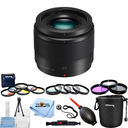 Panasonic Lumix G 25mm f/1.7 ASPH. Lens Mega Bundle White Box
