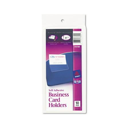averyr self adhesive business card holders 73720 pack of 10 - 3x5 Index Card Printer