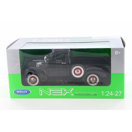 1953 Chevy 3100 Pick-Up Truck,  Black  - Welly 22087W-MJ-BK - 1/24 Scale Diecast Model Toy Car 1953 Chevy Truck Parts