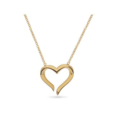 Eternal Heart 14KT Yellow Gold Heart Necklace 18 Inches