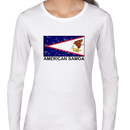 American Samoa Flag - Special Vintage Edition Women's Long Sleeve T-Shirt