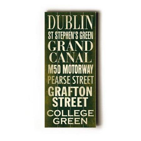 Artehouse LLC Dublin Transit by Cory Steffen Textual Art Plaque