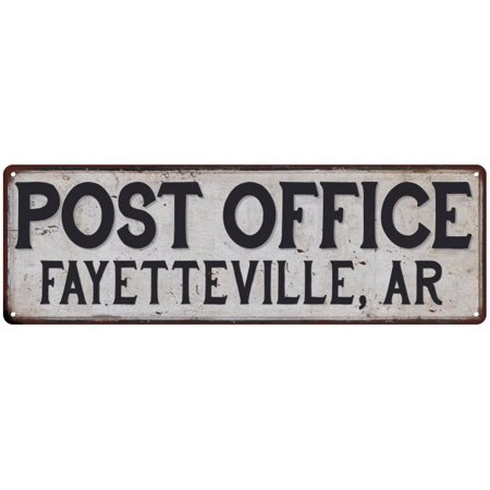 Fayetteville, Ar Post Office Personalized Metal Sign Vintage 6x18 106180011389
