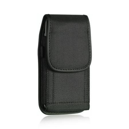 Insten Heavy Duty Nylon Vertical Pouch Case for Apple iPhone 8 7 6s 6 SE 5 5S Samsung Galaxy S6 S5 S4 S3 ZTE Maven Sonata 2 Compel Motorola Moto G X HTC One M9 N8 M7 Motorola Moto X G Universal Black