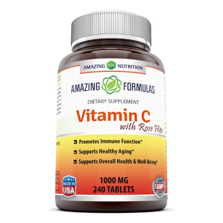 Formula Vitamin Supplement (Amazing Formulas Vitamin C with Rose Hips Dietary Supplement - Non-GMO 1000 Mg 240 Tablets )