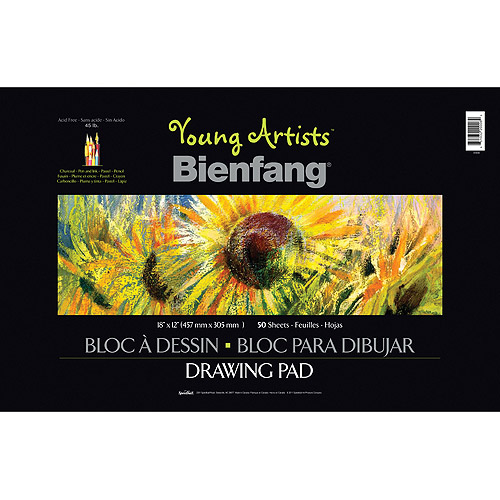 "Speedball Art Products Young Artist Bienfang Sketch Book, 18"" x 12"", 50 Sheets, 45lb Wire-Bound"