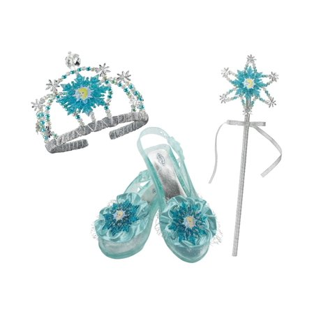 Disney Frozen Elsa Little Girls Princess Tiara Wand Shoes Accessory - Elsa Girls Shoes
