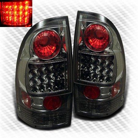 Smoked 2005 2017 Tacoma Led Tail Lights Rear Smoke Brake Lamps Light Pair L R 2006 2007 2008 2009 2010
