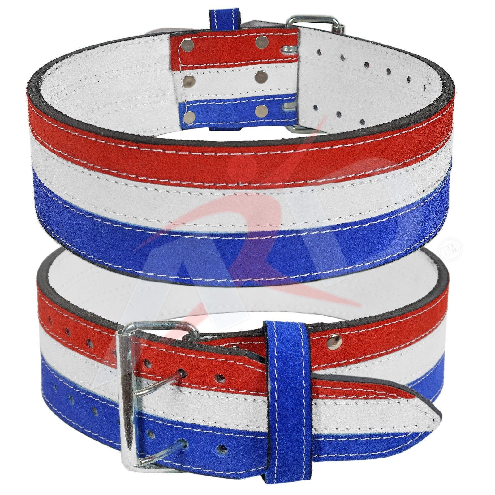 ARD Genuine Leather Power Heavy Duty Weight Lifting Body building Belt Flag Color Small