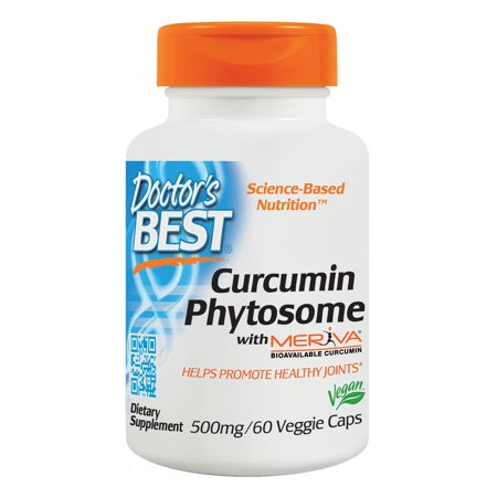 Doctor's Best Curcumin Phytosome with Meriva, Non-GMO, Vegan, Gluten Free, Soy Free, Joint Support, 500 mg 60 Veggie