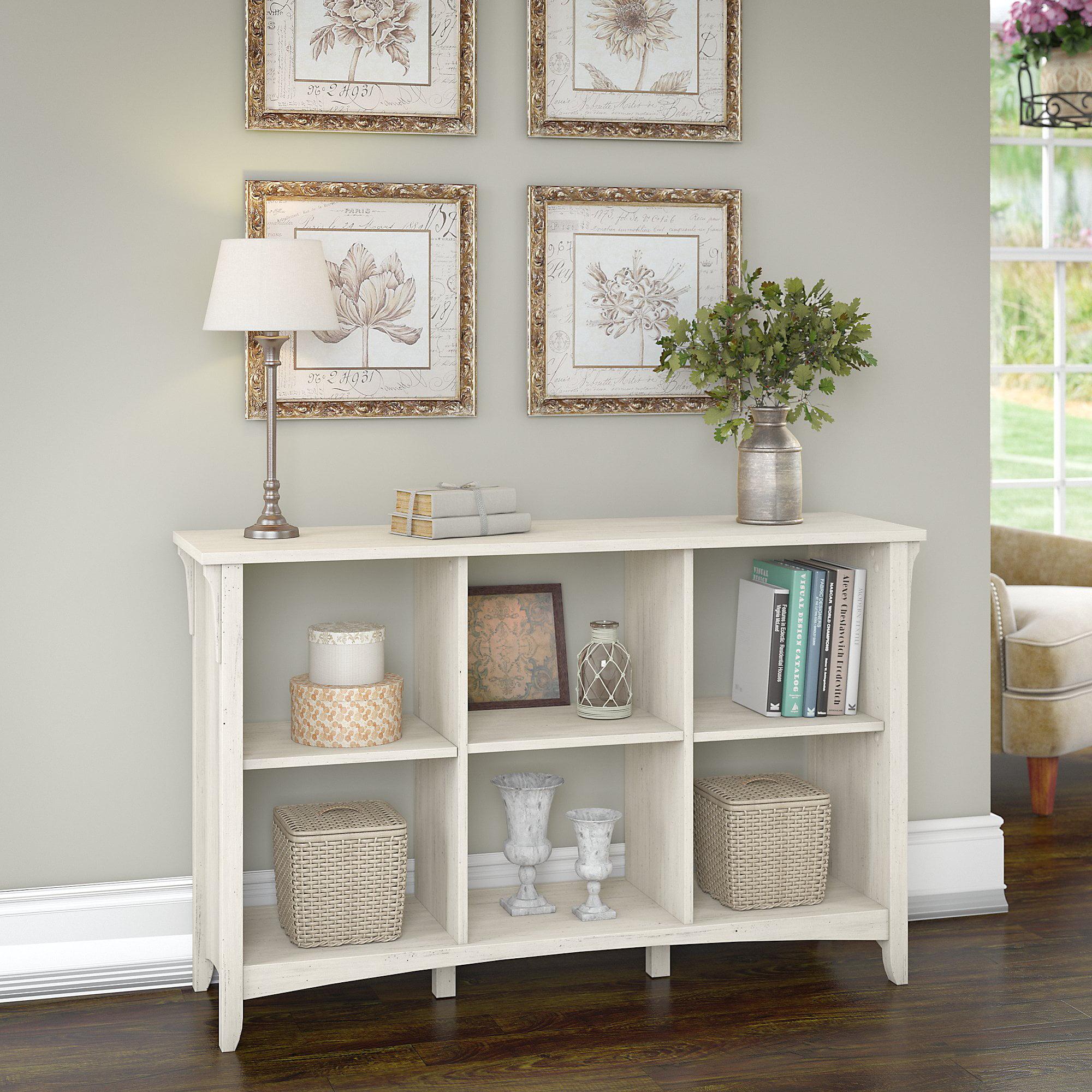 Bush Furniture Salinas Wood 6 Shelf Cube Organizer In