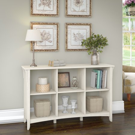 - Bush Furniture Salinas 6 Cube Organizer in Antique White