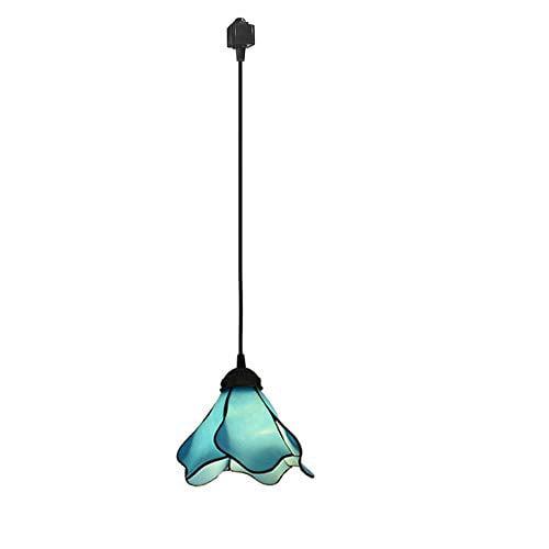 KIVEN Track Lighting Mini Antique Bronze Hanging Lamp,1-Light Bulb not Included