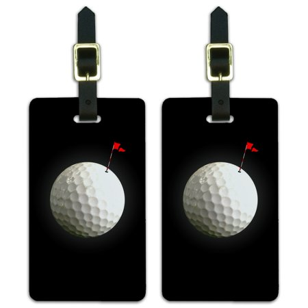 Graphics and More Golf Ball Moon Flag Golfing Luggage ID Tags Suitcase Carry-On Cards - Set of