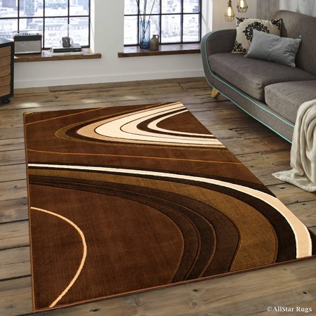 Allstar Brown Modern Contemporary Area Rug (7' 10