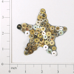 "Expo Int'l 3 1/4"" x 3 1/4"" Star Bead and Sequin Applique"