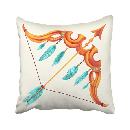 BPBOP Colorful Arrow With Zodiac Sign Sagittarius Astrological Astrology Birth Birthday Calendar Pillowcase Pillow Cover 20x20 inches