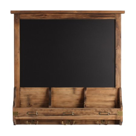 Uniek Stallard Decorative Rustic Wood Organizer with Chalkboard