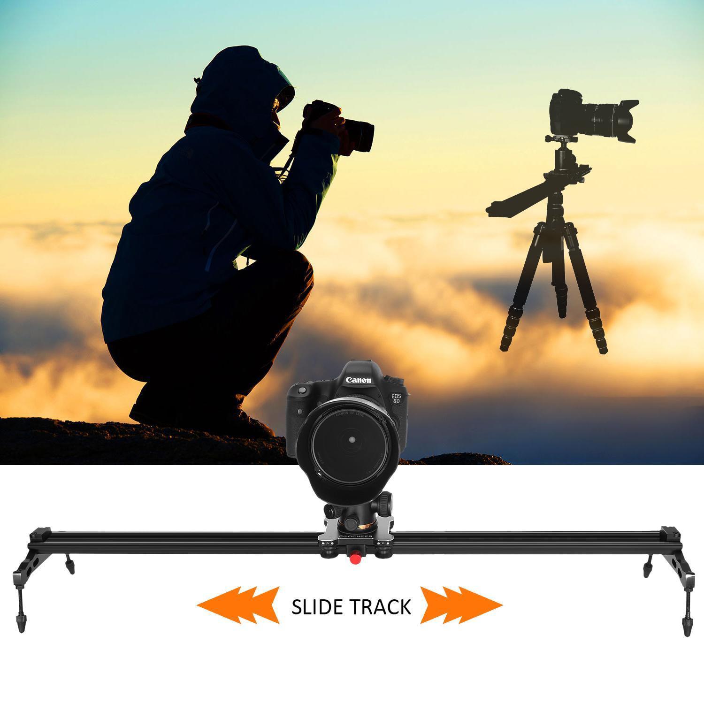 """32""""/80cm DSLR Camera Track Dolly Slider Aluminum Video St..."""