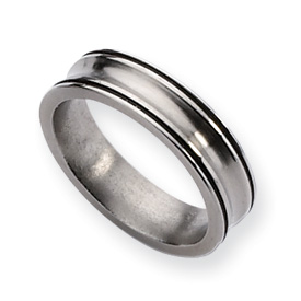 Titanium Enameled Concave 6mm Polished Band