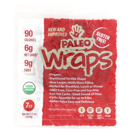 Julian Bakery Paleo Wrap Organic Coconut Wraps - Case Of 12 - 3.5 Oz.