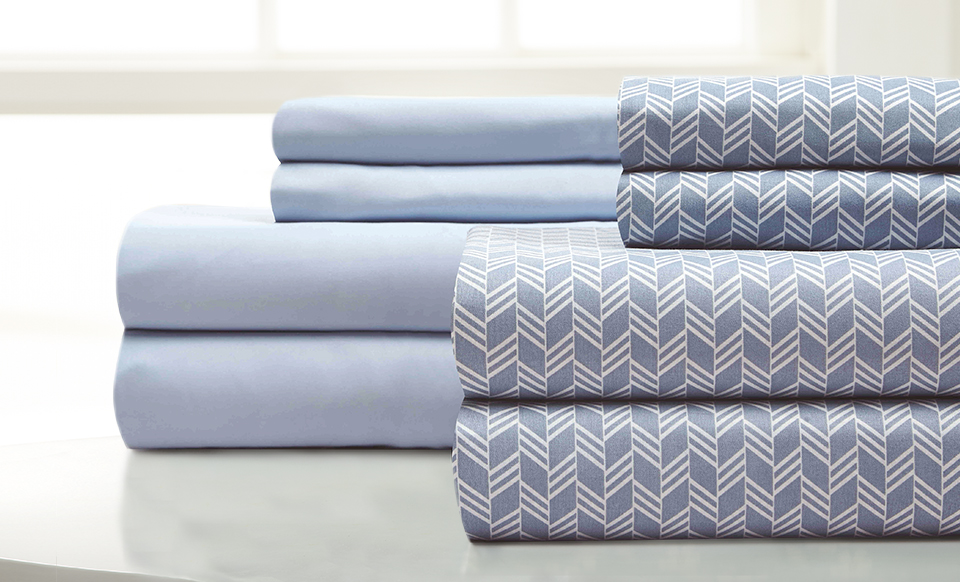 8 piece sheet set Fletch (Arrow) Blue Coral (teal) Cal King thumbnail