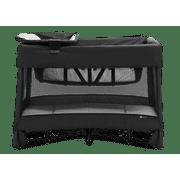 4moms® breeze® plus playard | Easy, One-Handed Setup | with Removable Bassinet & Flip Changer | Black