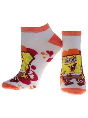 Spongebob Squarepants - Hearts Orange Socks