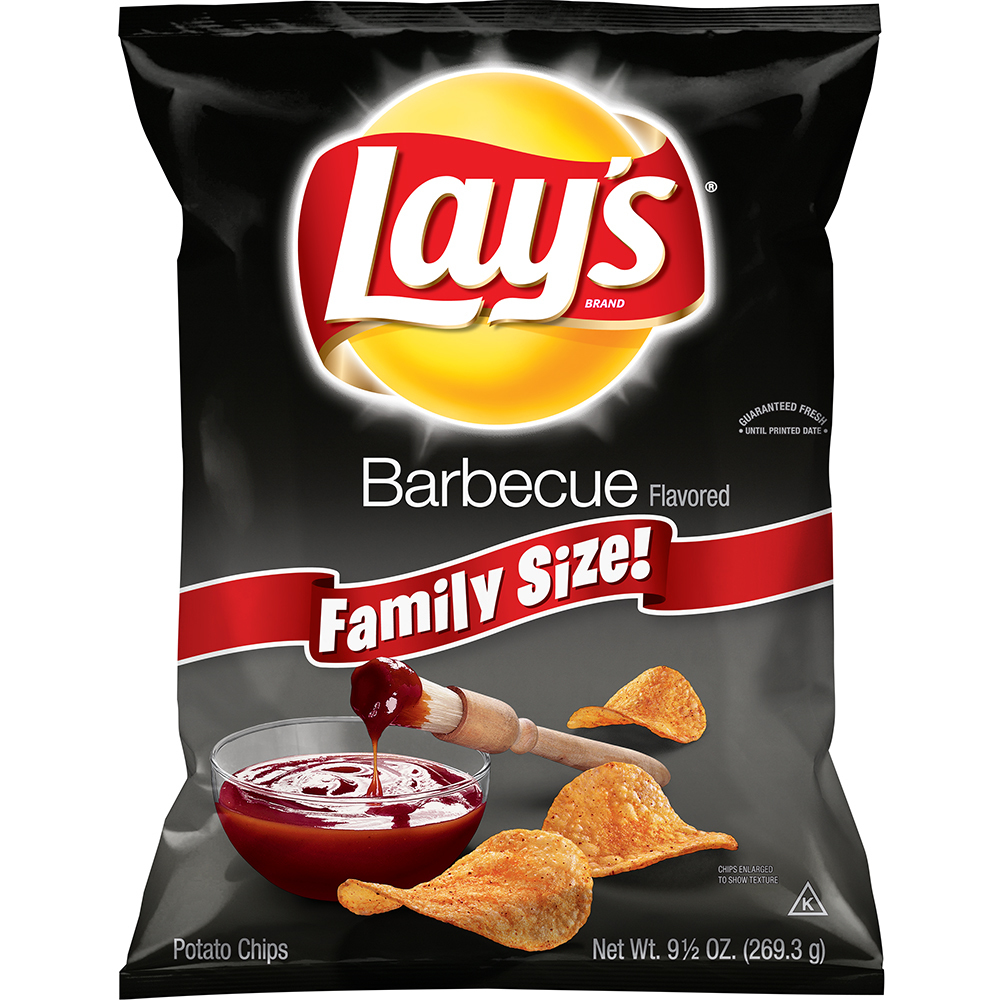 Lay's Barbecue Flavored Potato Chips 9.5 oz. Bag
