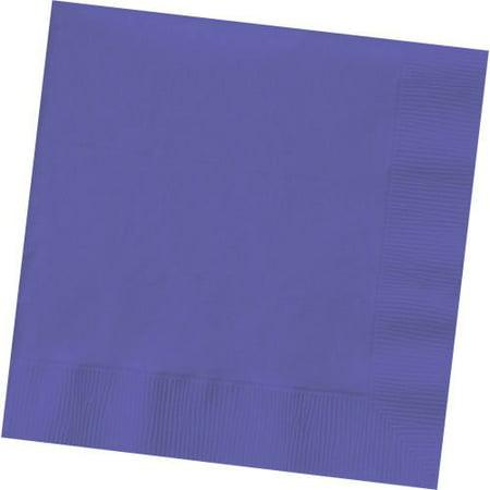 Napkin Sizes (Luncheon Size Napkins, Purple, 50-Pack)