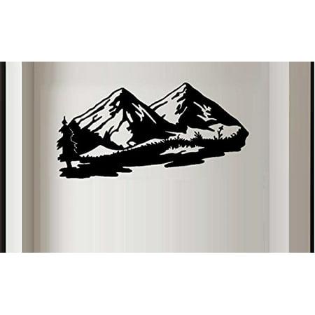 MOUNTAIN SCENE #2 ~ WALL DECAL, 20