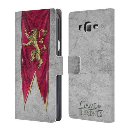 OFFICIAL HBO GAME OF THRONES SIGIL FLAGS LEATHER BOOK WALLET CASE COVER FOR SAMSUNG PHONES 3